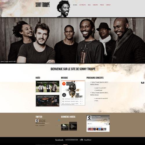 Site web Sonny Troupé